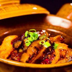 Tofu, Aubergine and Shiitake Mushroom Claypot in Chilli Black Bean Sauce - Chef Recipes, Chef Recipe, Delicious Recipes Food - Veggiebuzz