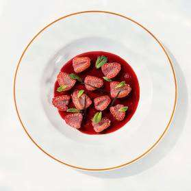 Raspberries with Hibiscus Infusion - Chef Recipes, Chef Recipe, Delicious Recipes Food - Veggiebuzz