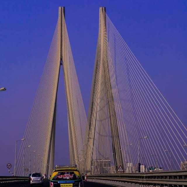 Cable Stayed Bridge, Bandra - Worli Sealink-Standard Chartered Mumbai Marathon 2015