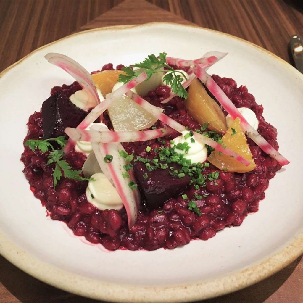 Beet and Barley Risotto - Intersect by Lexus, DIFC