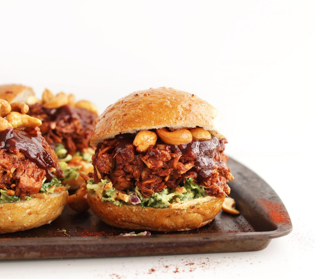 amazing-bbq-jackfruit-sandwiches-with-avocado-slaw-and-roasted-cashews-big-flavor-in-30-minutes-vegan-glutenfree