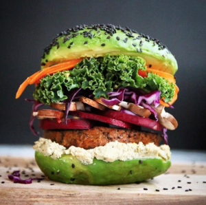 Everyone's talking about the gold leaf burger... but we're just thinking about these avocado buns.
