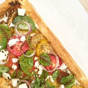 Roasted Heirloom Tomato Tart by Fairmont The Palm-Interviews Features, Vegetarian Food Feature Dubai, Veggiebuzz - Vegetarian Food Blog by Veggiebuzz