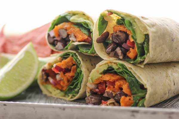 vegetarian wrap recipes